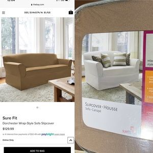 Sure Fit Dorchester Wrap-Style Sofa Slipcover